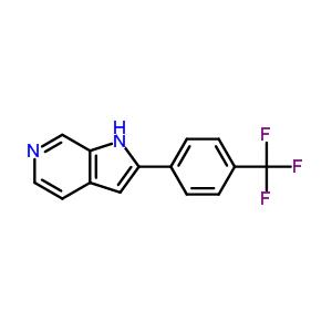 627511-04-0 2-[4-(trifluoromethyl)phenyl]-1H-pyrrolo[2,3-c]pyridine