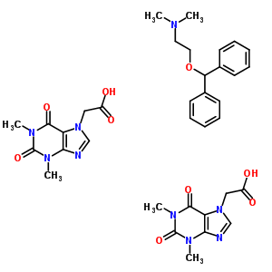 6888-11-5 (1,3-dimethyl-2,6-dioxo-1,2,3,6-tetrahydro-7H-purin-7-yl)acetic acid - 2-(diphenylmethoxy)-N,N-dimethylethanamine (2:1)
