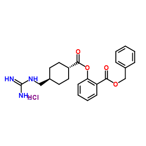 78718-25-9 benzyl 2-({[trans-4-(carbamimidamidomethyl)cyclohexyl]carbonyl}oxy)benzoate hydrochloride