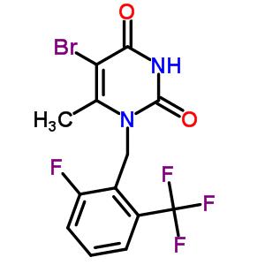 830346-48-0 5-bromo-1-[2-fluoro-6-(trifluoromethyl)benzyl]-6-methylpyrimidine-2,4(1H,3H)-dione