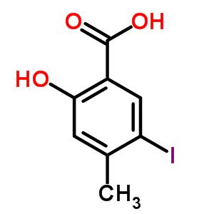 Estrutura Molecular 850146 83 7 2 Hydroxy 5 Iodo 4 Methylbenzoic