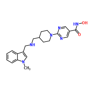 875320-29-9 N-hydroxy-2-[4-({[(1-methyl-1H-indol-3-yl)methyl]amino}methyl)piperidin-1-yl]pyrimidine-5-carboxamide