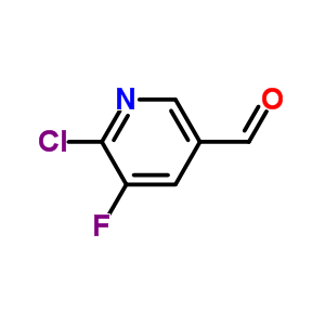 2-氯-3-氟-5-甲酰基吡啶 950691-52-8