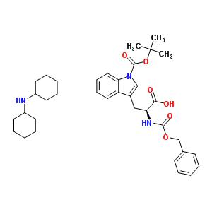 218938-57-9 N-[(benzyloxy)carbonyl]-1-(tert-butoxycarbonyl)-L-tryptophan - N-cyclohexylcyclohexanamine (1:1)