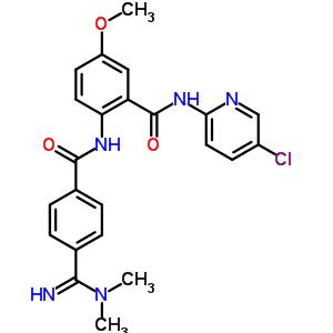 330942-05-7 N-(5-chloropyridin-2-yl)-2-({[4-(N,N-dimethylcarbamimidoyl)phenyl]carbonyl}amino)-5-methoxybenzamide