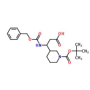 372144-13-3 3-benzyloxycarbonylamino-3-(1-tert-butoxycarbonyl-3-piperidyl)propanoic acid