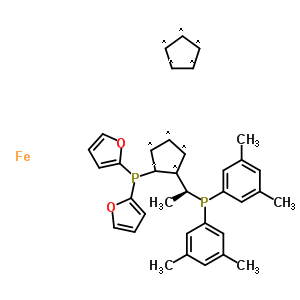 649559-65-9 1,2,3,4,5-cyclopentanepentayl, compd. with 1-[(1S)-1-[bis(3,5-dimethylphenyl)phosphino]ethyl]-2-(di-2-furanylphosphino)-1,2,3,4,5-cyclopentanepentayl, iron salt (1:1:1)