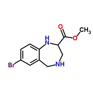 672309-91-0 methyl 7-bromo-2,3,4,5-tetrahydro-1H-1,4-benzodiazepine-2-carboxylate
