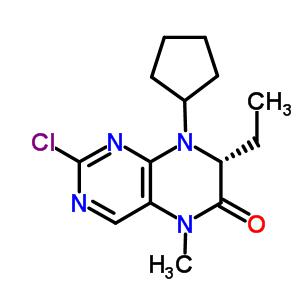 (7R)-2-氯-8-环戊基-7-乙基-7,8-二氢-5-甲基-6(5H)-蝶啶酮 755039-55-5