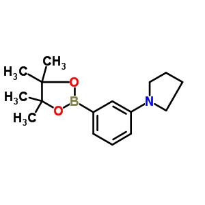 857283-63-7 1-[3-(4,4,5,5-tetramethyl-1,3,2-dioxaborolan-2-yl)phenyl]pyrrolidine