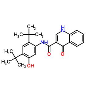 873054-44-5 N-(2,4-di-tert-butyl-5-hydroxyphenyl)-4-oxo-1,4-dihydroquinoline-3-carboxamide