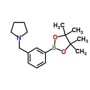 884507-45-3 1-[3-(4,4,5,5-tetramethyl-1,3,2-dioxaborolan-2-yl)benzyl]pyrrolidine