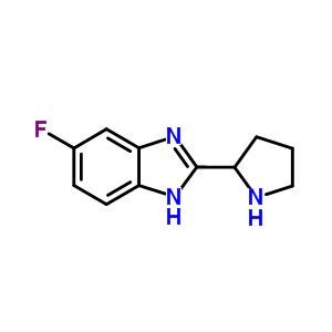 5-氟-2-吡咯烷基-1H-苯并咪唑 885277-90-7