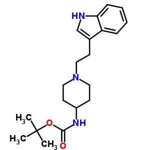 1-N-(3'-吲哚)乙基-4-Boc-氨基哌啶 886362-25-0