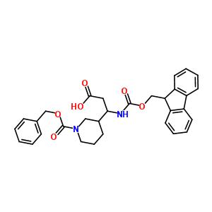 3-N-Fmoc-氨基-3-(3'-Cbz)哌啶-丙酸 886362-38-5