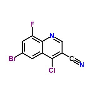 886362-71-6 6-bromo-4-chloro-8-fluoro-quinoline-3-carbonitrile