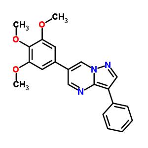893613-41-7 3-phenyl-6-(3,4,5-trimethoxyphenyl)pyrazolo[1,5-a]pyrimidine