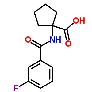 912771-14-3 1-[(3-fluorobenzoyl)amino]cyclopentane-1-carboxylic acid