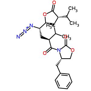 [2S-[2a[1(R*),2R*,4R*],4b]]-3-[4-叠氮-2-异丙基-1-氧代-4-[四氢-4-异丙基-5-氧代-2-呋喃基]丁基]-4-苄基-2-�f唑烷酮 173154-01-3