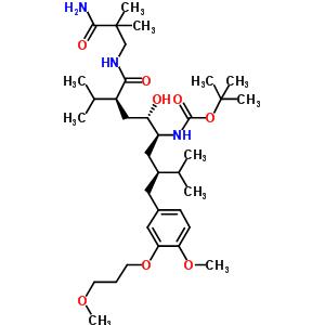 [1S-[1R*(R*),2R*,4R*]]-[4-[[(3-氨基-2,2-二甲基-3-氧代丙基)氨基]羰基]-2-羟基-1-[2-[[4-甲氧基-3-(3-甲氧基丙氧基)苯基]甲基]-3-甲基丁基]-5-甲基己基]-氨基甲酸叔丁酯 173338-07-3