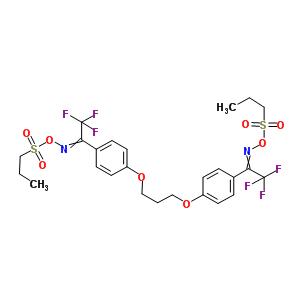 300374-81-6 [[2,2,2-trifluoro-1-[4-[3-[4-[N-propylsulfonyloxy-C-(trifluoromethyl)carbonimidoyl]phenoxy]propoxy]phenyl]ethylidene]amino] propane-1-sulfonate