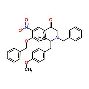 2-[[2-(4-甲氧基苯基)-1-甲基乙基](苯基甲基)氨基]-1-[3-硝基-4-(苯基甲氧基)苯基]-乙酮 43229-66-9