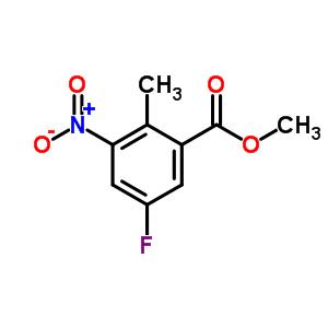 5-FLUORO-2-METHYL-3-NITRO-BENZOIC ACID METHYL ESTER 697739-03-0