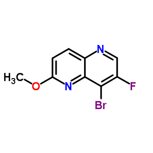 724788-70-9 8-bromo-7-fluoro-2-methoxy-1,5-naphthyridine