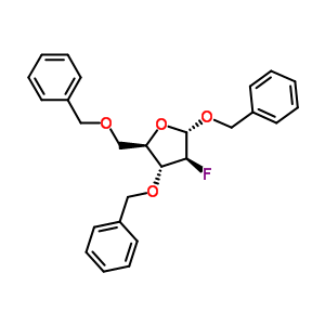 80765-80-6 (2S,3S,4R,5R)-2,4-dibenzyloxy-5-(benzyloxymethyl)-3-fluoro-tetrahydrofuran