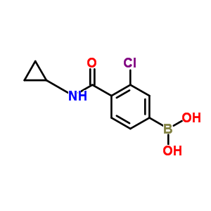 850589-44-5 [3-chloro-4-(cyclopropylcarbamoyl)phenyl]boronic acid