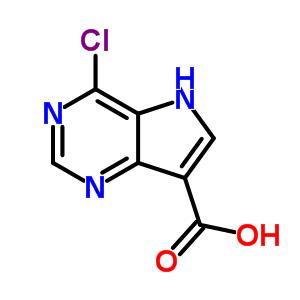 853058-43-2;1019056-31-5 4-Chloro-5H-pyrrolo[3,2-d]pyrimidine-7-carboxylic acid