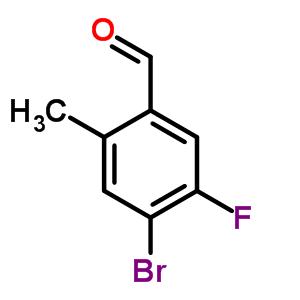 4-溴-5-氟-2-甲基苯甲醛 861928-26-9