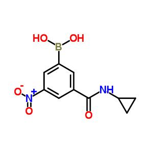 871332-86-4 [3-(cyclopropylcarbamoyl)-5-nitro-phenyl]boronic acid