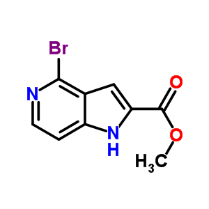 871583-15-2 methyl 4-bromo-1H-pyrrolo[3,2-c]pyridine-2-carboxylate