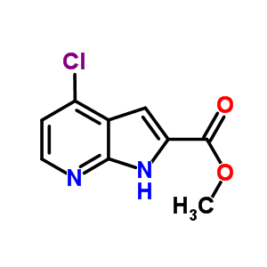 871583-23-2 methyl 4-chloro-1H-pyrrolo[2,3-b]pyridine-2-carboxylate
