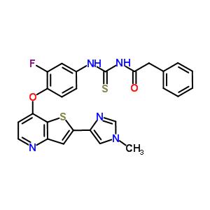 875337-44-3 N-[(3-fluoro-4-{[2-(1-methyl-1H-imidazol-4-yl)thieno[3,2-b]pyridin-7-yl]oxy}phenyl)carbamothioyl]-2-phenylacetamide