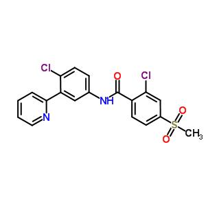 879085-55-9 2-chloro-N-[4-chloro-3-(pyridin-2-yl)phenyl]-4-(methylsulfonyl)benzamide