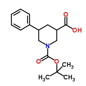 5-苯基哌啶-1,3-二羧酸-1-叔丁酯 885274-99-7
