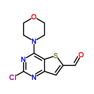 885618-31-5 2-Chloro-4-(morpholin-4-yl)thieno[3,2-d]pyrimidine-6-carbaldehyde