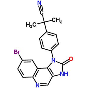 2-(4-(8-溴-2-氧-2,3-二氢-1氢-咪唑[4,5-c]喹啉-1基)苯基)-2-甲基-丙腈 915019-53-3