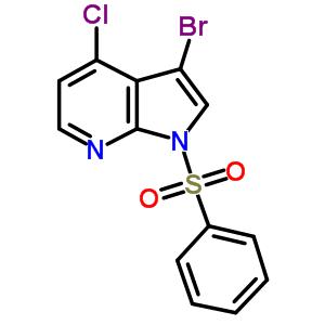 3-溴-4-氯-1-(苯磺酰基)-1H-吡咯并[2,3-B]吡啶 920966-51-4
