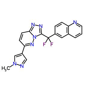 6-[二氟[6-(1-甲基-1H-吡唑-4-基)-1,2,4-噻唑并[4,3-B]吡嗪-3-基]甲基]-喹啉 943540-75-8