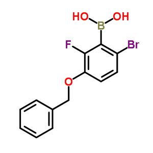 957035-10-8 (3-benzyloxy-6-bromo-2-fluoro-phenyl)boronic acid