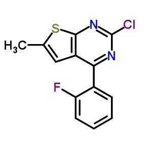 99499-25-9 2-chloro-4-(2-fluorophenyl)-6-methyl-thieno[2,3-d]pyrimidine
