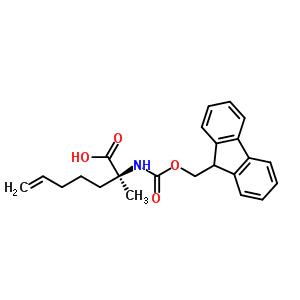 (R)-2-{[(9H-fluoren-9-yl)methoxy] carbonylamino}-2-methylhept-6-enoic acid 288617-77-6