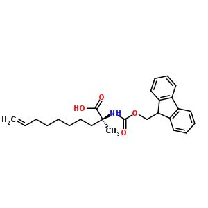 288617-75-4 (2S)-2-(9H-fluoren-9-ylmethoxycarbonylamino)-2-methyl-dec-9-enoic acid