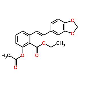 365543-21-1 ethyl 2-acetoxy-6-[(E)-2-(1,3-benzodioxol-5-yl)vinyl]benzoate
