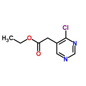 6214-47-7 ethyl 2-(4-chloropyrimidin-5-yl)acetate