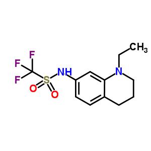 848080-31-9 N-(1-ethyl-3,4-dihydro-2H-quinolin-7-yl)-1,1,1-trifluoro-methanesulfonamide