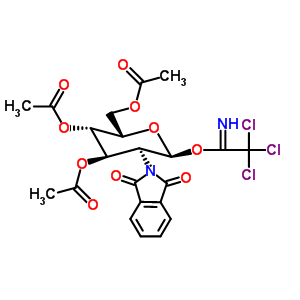 87190-67-8 [(2S,3S,4R,5S,6S)-3,4-diacetoxy-5-(1,3-dioxoisoindolin-2-yl)-6-(2,2,2-trichloroethanimidoyl)oxy-tetrahydropyran-2-yl]methyl acetate